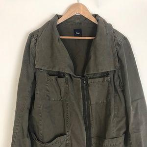 Gap army green jacket Sz Large